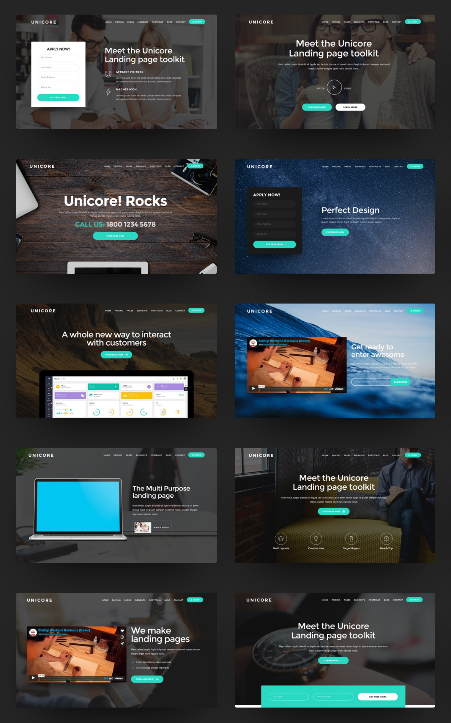 Bootstrap One Page Theme Template