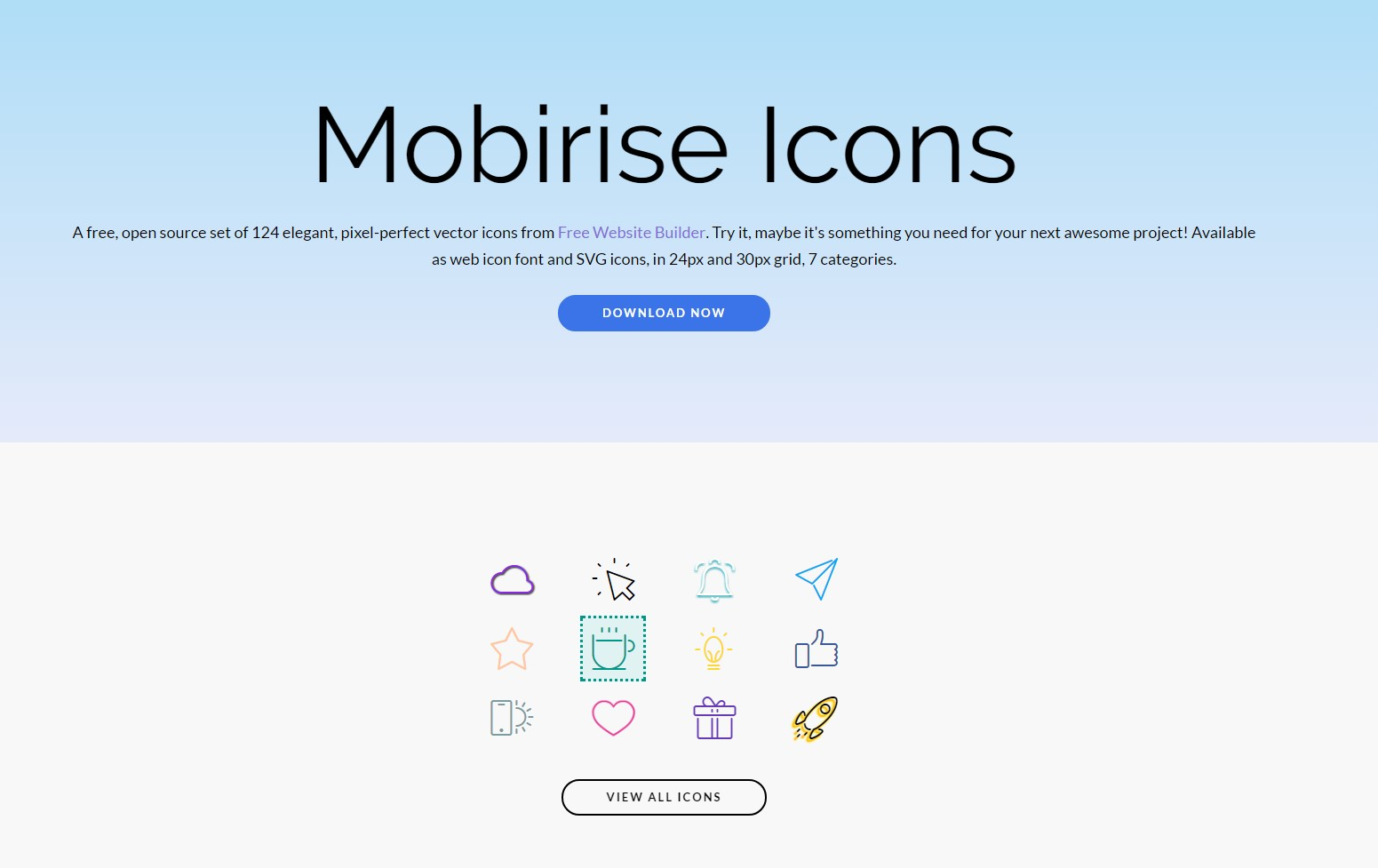 mobirise icons set