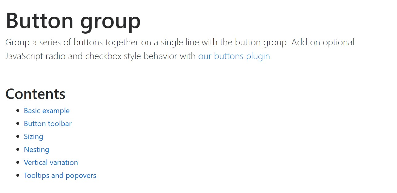 Bootstrap button group official  information