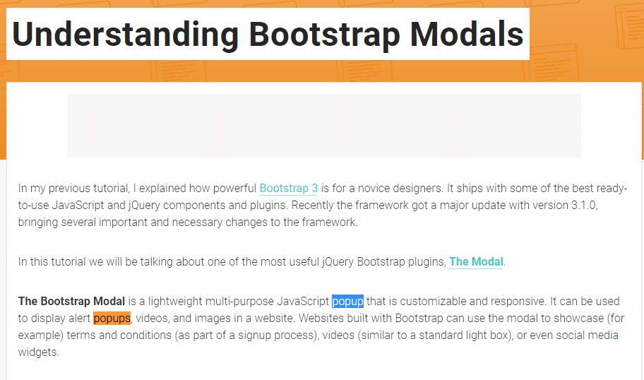 One more useful  post  relating to Bootstrap Modal Popup